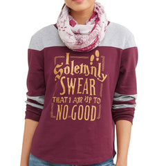 Harry Potter - Solemnly Swear - Ladies Long Sleeve T-Shirt & Scarf