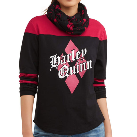 Harley Quinn - Diamond - Ladies Long Sleeve T-Shirt & Scarf
