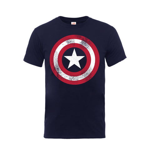 Captain America - Distressed Shield - T-Shirt