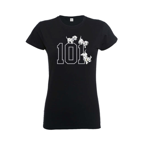 [W] Disney - 101 Dalmations 101 Doggies - Ladies Fitted T-Shirt