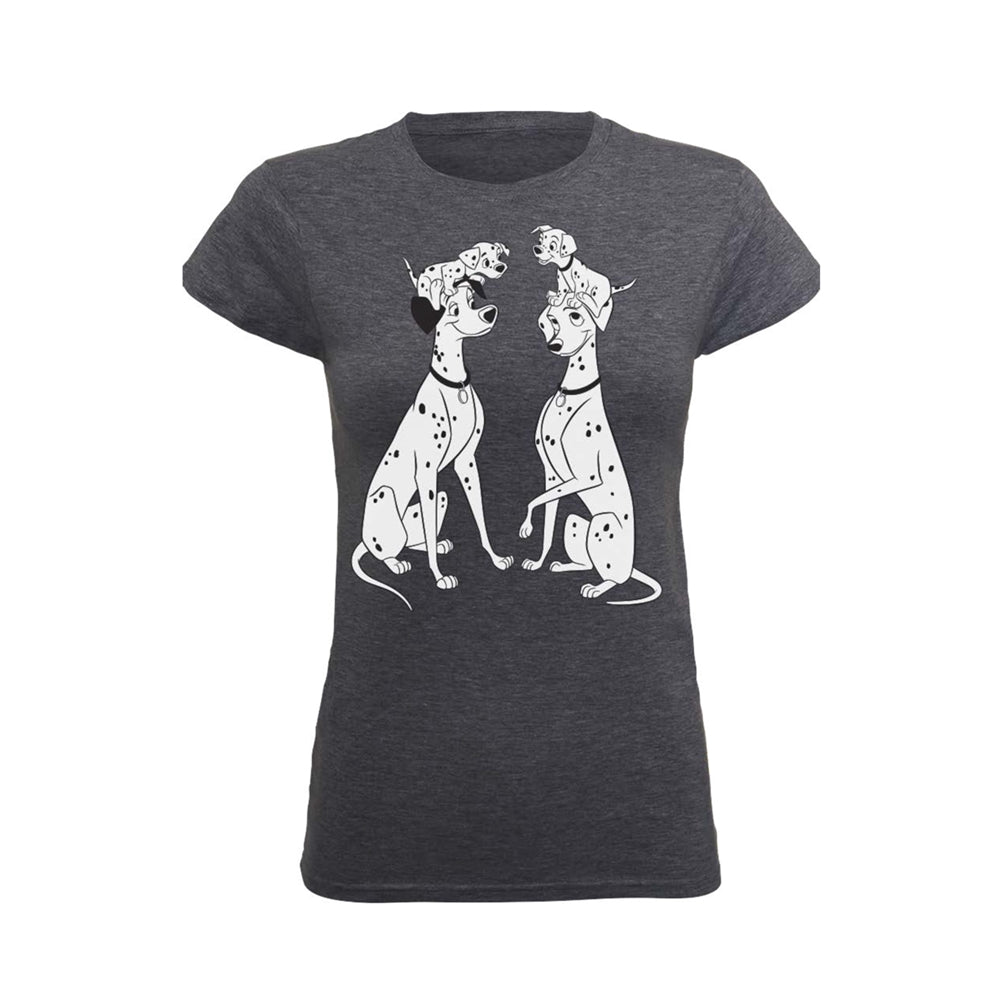 [W] Disney - 101 Dalmations Family - Ladies Fitted T-Shirt