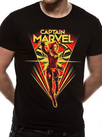 Captain Marvel - Flying V - T-Shirt