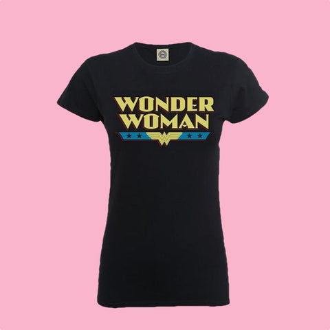 [W] Wonder Woman - Original Logo - Ladies Fitted T-Shirt