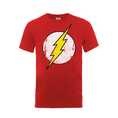 The Flash - Distressed Logo - T-Shirt