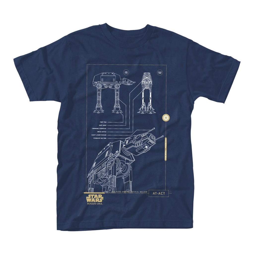 Star Wars - Rogue One - Blue Print AT-ACT - T-Shirt