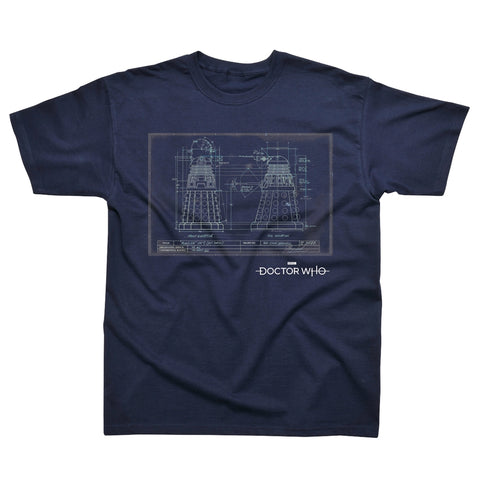 Doctor Who - Dalek Blueprint - T-Shirt
