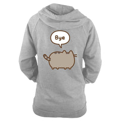 Pusheen - Hi/Bye - Ladies Hooded Sweatshirt