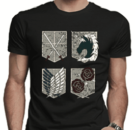 Attack on Titan - Four Shields - T-Shirt
