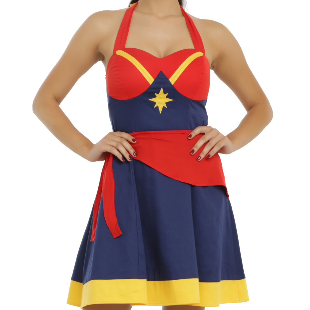 Captain Marvel - Cosplay Halter - Dress
