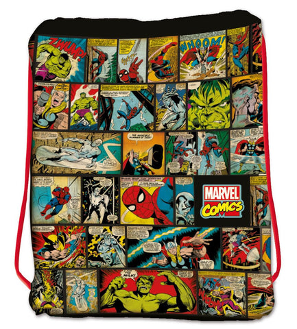 Marvel - The Hulk, Spiderman, Wolverine, Thor, Silver Surfer - Drawstring Bag