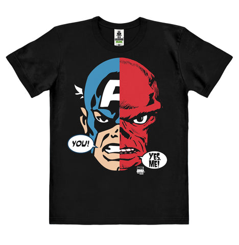 Captain America - Split Faces - T-Shirt