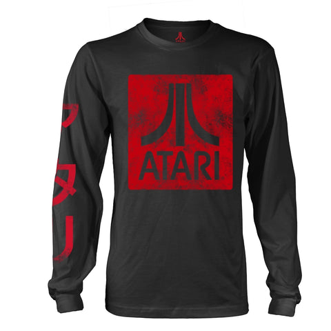 Atari - Box Logo - Long Sleeve Shirt