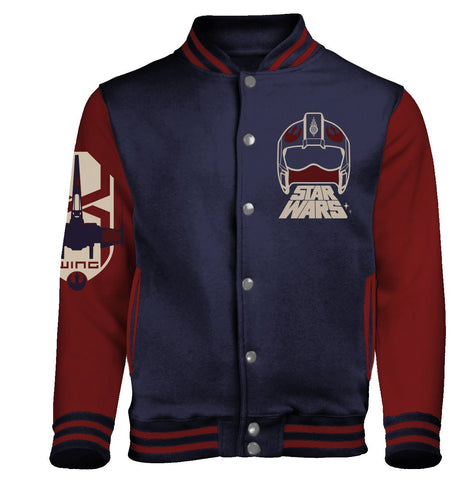 Star Wars The Force Awakens - X-wing Squadron - Baseball Style Varsity Jacket
