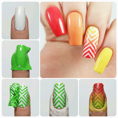 Right Angle Nail Stencils - Snail Vinyls  - 3