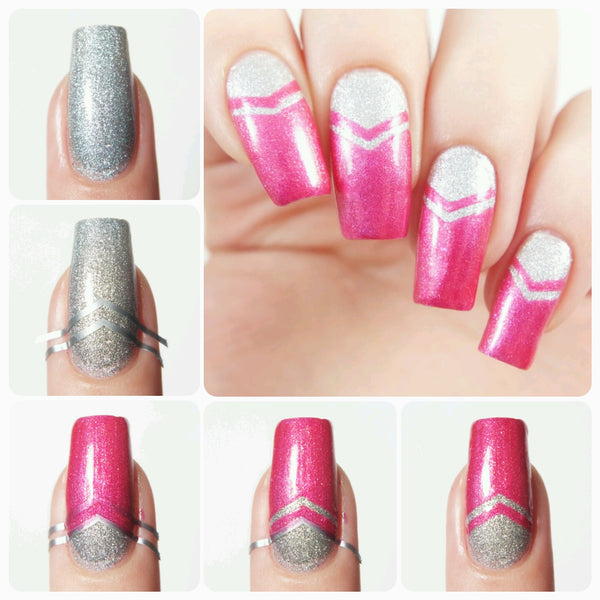 Small Single Chevron Nail Vinyls - Snail Vinyls  - 3