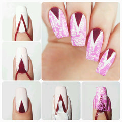Deep Single Chevron Nail Vinyls - Snail Vinyls  - 3