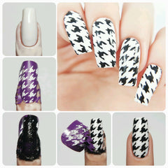 Houndstooth Nail Stencils - Snail Vinyls  - 3