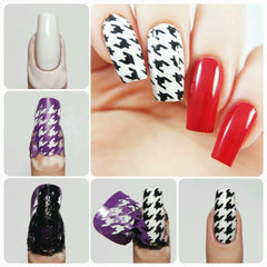 Houndstooth Nail Stencils - Snail Vinyls  - 8