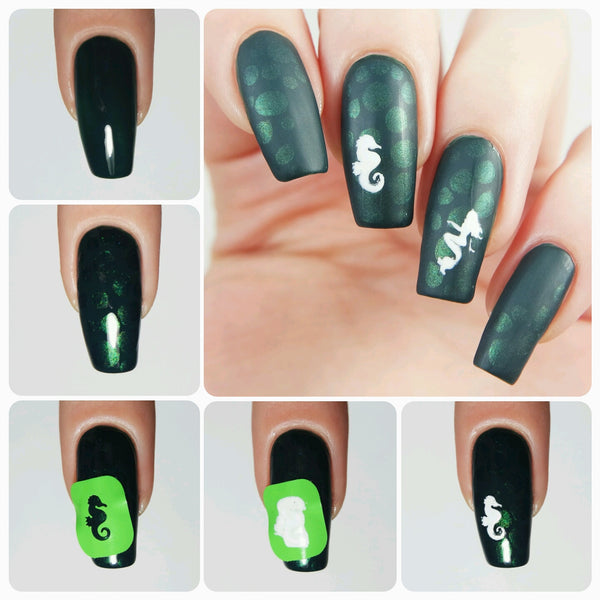 Mermaid Nail Decals/ Nail Stencils - Snail Vinyls  - 7