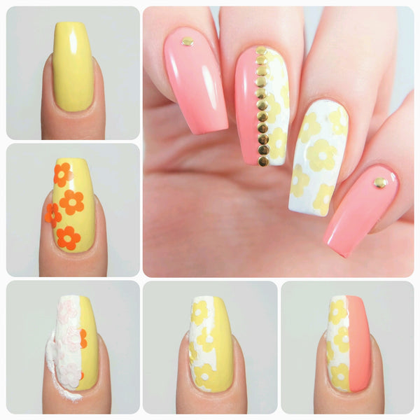 Daisy Flower Nail Decals - Snail Vinyls  - 2