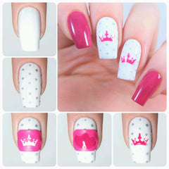Crown Nail Decal/ Nail Stencil
