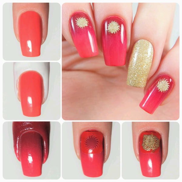 Sunburst Nail Decals