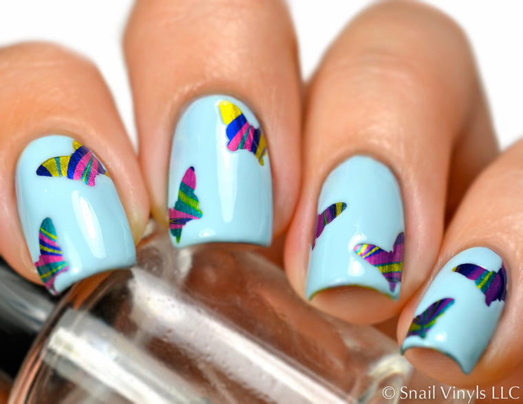 Butterfly Nail Decals/ Nail Stencils (30)