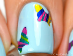 Butterfly Nail Decals/ Nail Stencils (30) - Snail Vinyls  - 3