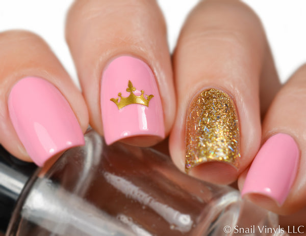 Crown Nail Decal/ Nail Stencil - Snail Vinyls  - 1