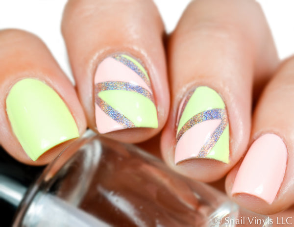 Deep Single Chevron Nail Vinyls - Snail Vinyls  - 1
