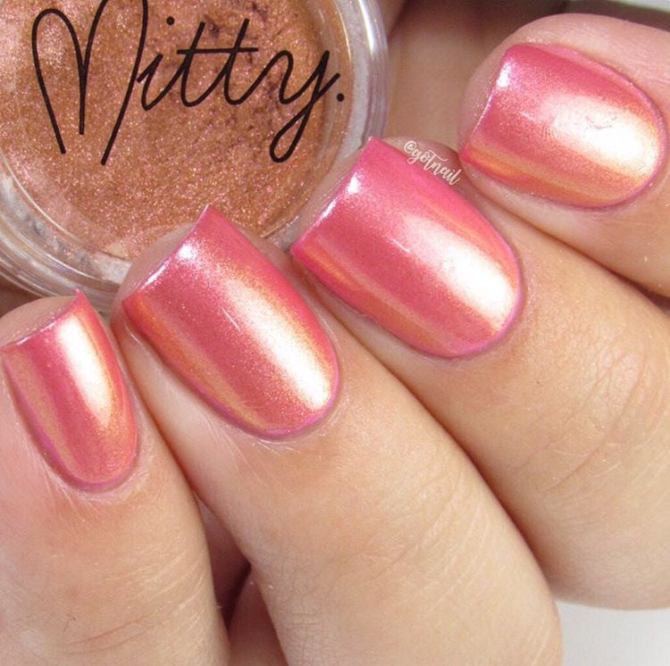 Mitty Chrome Nail Art Powder- Copper Goddess