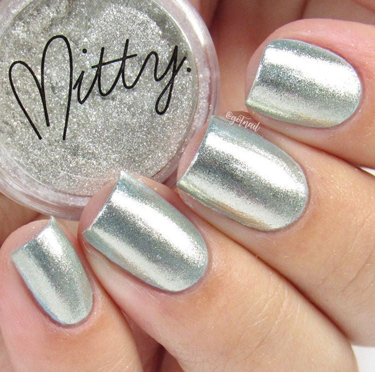 Mitty Chrome Nail Art Powder- Silver Star