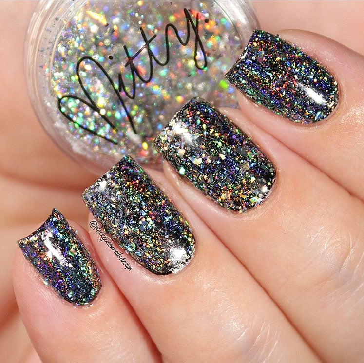 Mitty Shattered Rainbow Holo Nail Art Powder