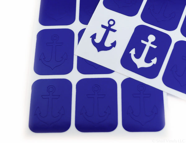 Anchor Nail Decal/ Nail Stencils - Snail Vinyls  - 4