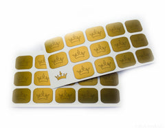Crown Nail Decal/ Nail Stencil - Snail Vinyls  - 2