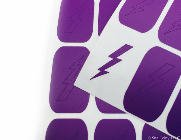 Small Lightning Bolt Nail Vinyls - Snail Vinyls  - 4