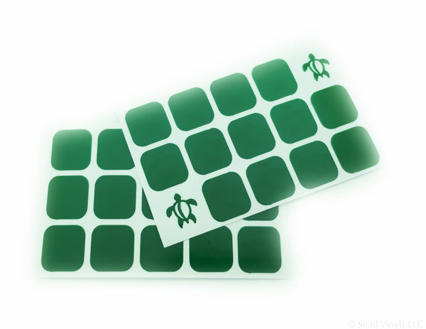 Hawaiian Sea Turtle Nail Decals/ Nail Stencils - Snail Vinyls  - 4