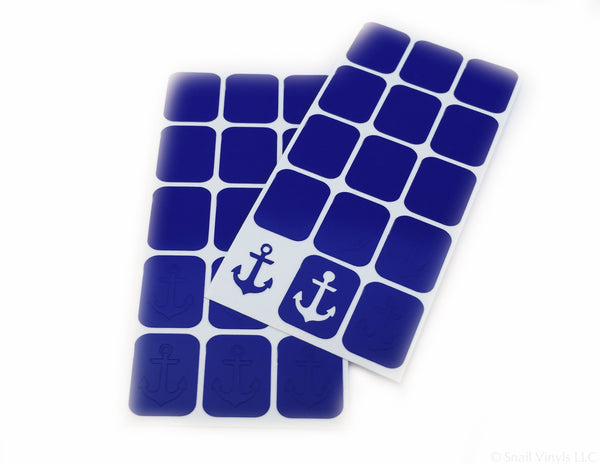 Anchor Nail Decal/ Nail Stencils - Snail Vinyls  - 1