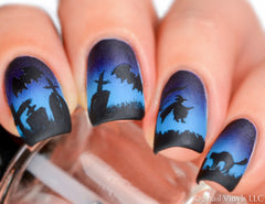Witch Nail Decal/ Nail Stencil - Snail Vinyls  - 1