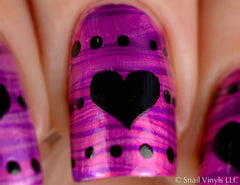 Large Heart Nail Decals - Snail Vinyls  - 9