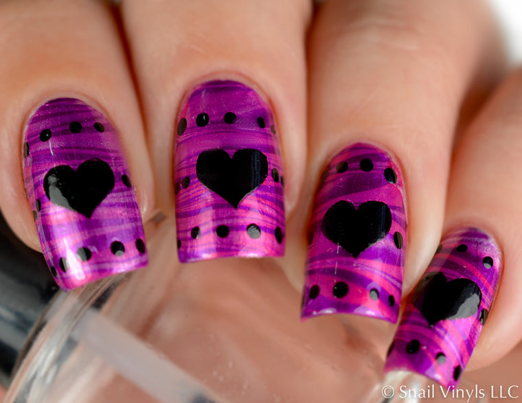 Large Heart Nail Decals