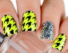 Houndstooth Nail Stencils - Snail Vinyls  - 1