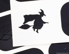Witch Nail Decal/ Nail Stencil - Snail Vinyls  - 3