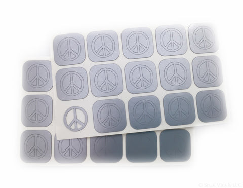 Peace Sign Nail Decals/ Nail Stencils - Snail Vinyls  - 3