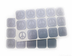 Peace Sign Nail Decals/ Nail Stencils - Snail Vinyls  - 2