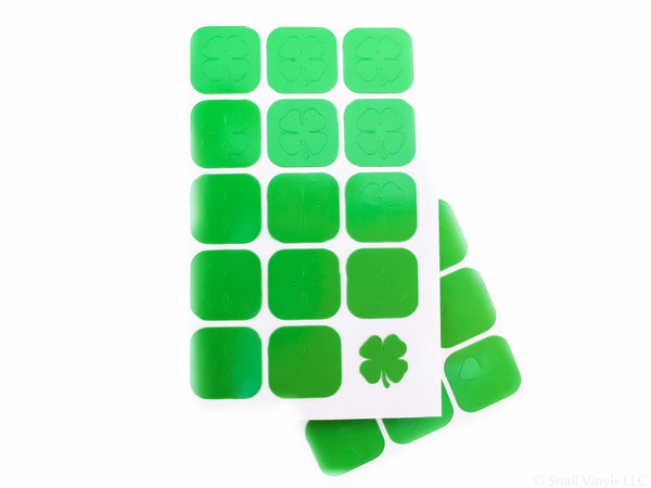 Four Leaf Clover Nail Decals - Snail Vinyls  - 4