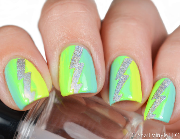 Lightning Bolt Nail Vinyls