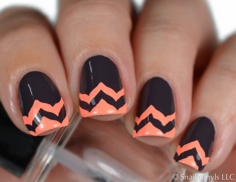 Marbled Chevron Nail Vinyls