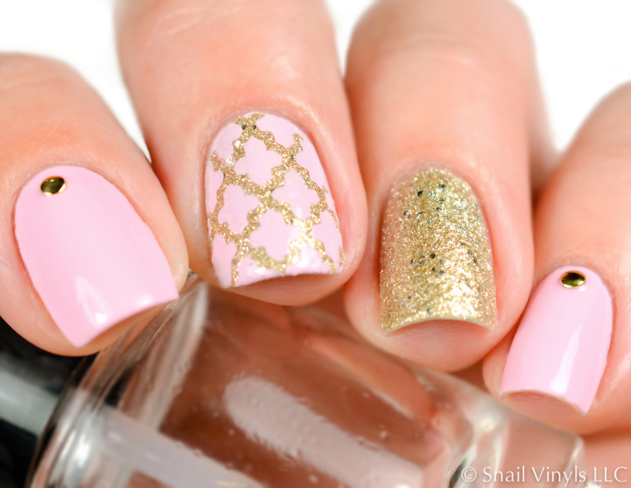 Hibiscus Flower Nail Stencils Nail Decals Snail Vinyls