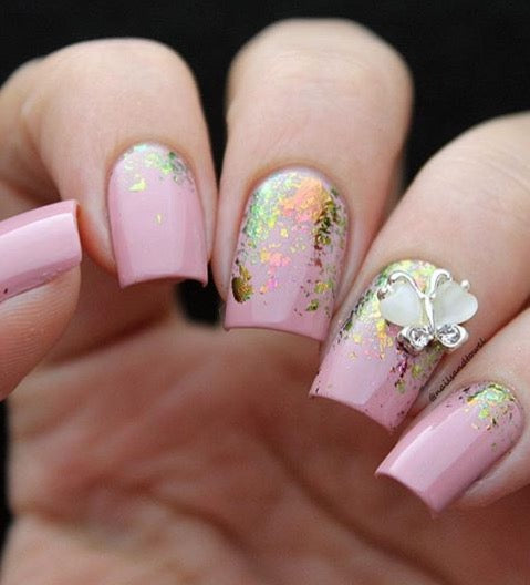 Mitty Shattered Butterflies Nail Art Powder